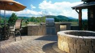 Outdoor Kitchen & Firepit-Keystone Country Manor